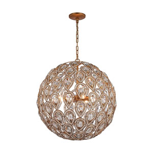 Evolve Matte Gold 21-Inch Eight-Light Pendant