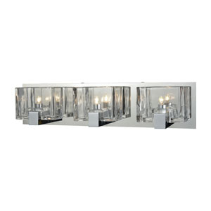 Ridgecrest Polished Chrome Three-Light Vanity