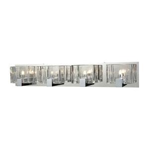 Ridgecrest Polished Chrome Four-Light Vanity