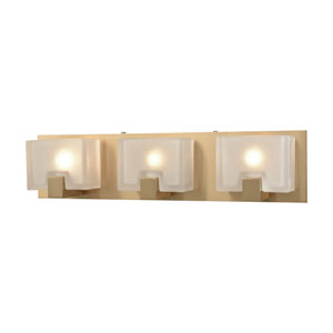 Ridgecrest Satin Brass Three-Light Vanity