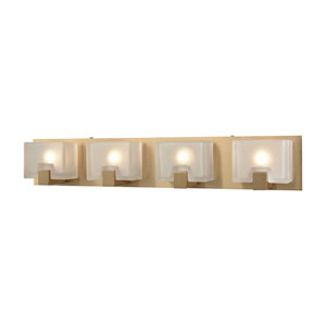 Ridgecrest Satin Brass Four-Light Vanity