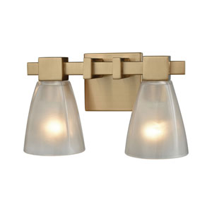 Ensley Satin Brass Two-Light Vanity