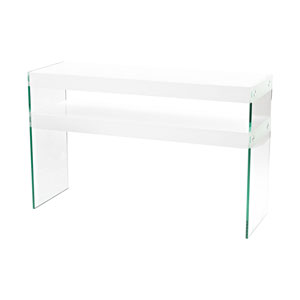 Leen Clear Glass Console
