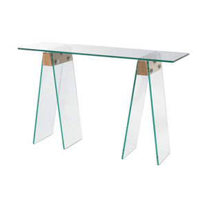 Frankfurt Clear Glass Console