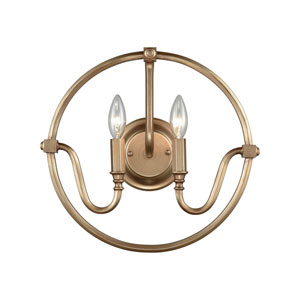 Stanton Matte Gold Two-Light Wall Sconce