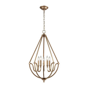 Stanton Matte Gold Five-Light Pendant