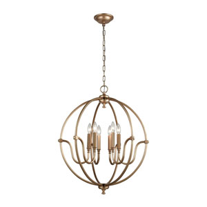 Stanton Matte Gold Six-Light Pendant