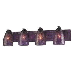 Vanity Rust Purple Crackle Four-Light Bath Fixture