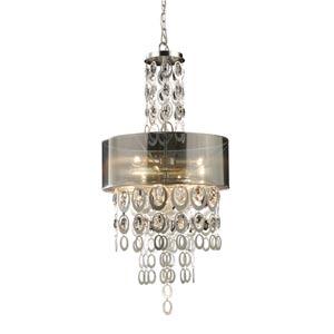 Parisienne Silver Leaf Three-Light Pendant