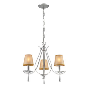 Silver Three Light Chandelier