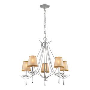 Clarendon Silver Five Light Chandelier