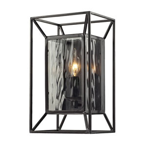 Cubix One Light Sconce In Oiled Bronze