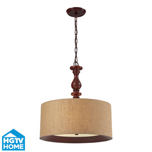 Nathan Three Light Pendant In Dark Walnut