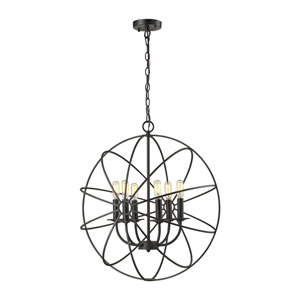 Yardley Oil Rubbed Bronze Six-Light Orb Pendant
