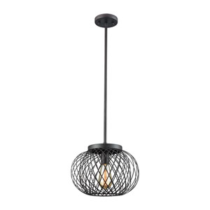 Yardley Oil Rubbed Bronze 10-Inch One-Light Pendant