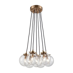 Boudreaux Satin Brass Seven-Light Pendant