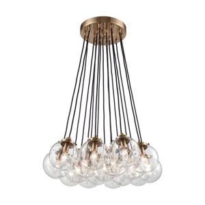 Boudreaux Satin Brass Seventeen-Light Pendant