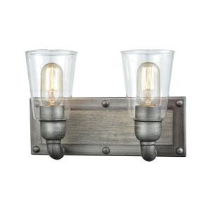 Platform Weathered Zinc Two-Light Vanity