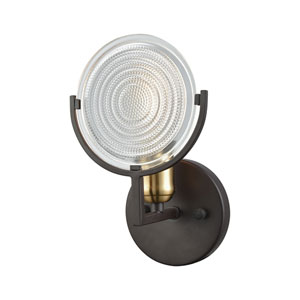 Ocular Oil Rubbed Bronze and Satin Brass One-Light Vanity