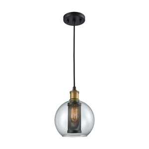 Bremington Oil Rubbed Bronze and Tarnished Brass One-Light Mini Pendant