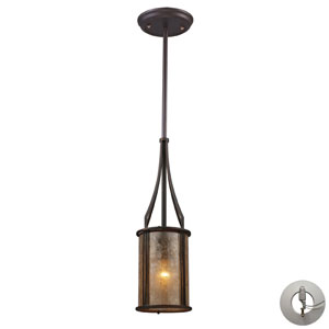Barringer One Light Mini Pendant And Tan Mica Shade Includes w/ An Adapter Kit