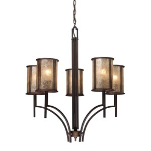Barringer Aged Bronze Five-Light Chandelier