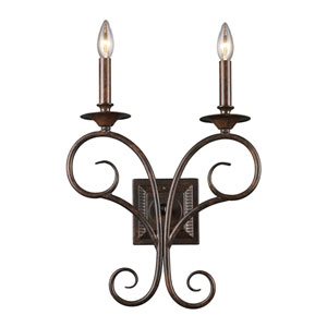 Gloucester Antique Bronze Two-Light Sconce