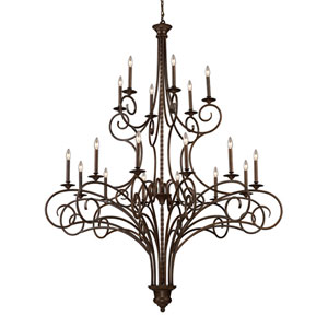 Gloucester Antique Bronze Eighteen-Light Chandelier
