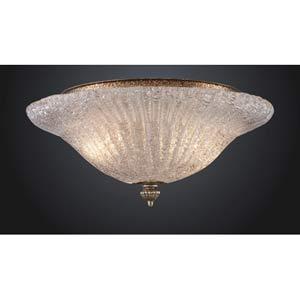 Providence Antique Silver Leaf Flush Mount Ceiling Light