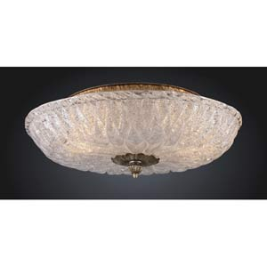 Providence Antique Silver Leaf Flush Mount Ceiling Light