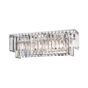 Palacial Polished Chrome 27-Inch Three-Light Vanity