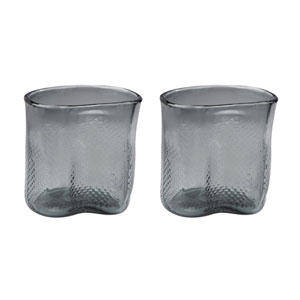 Fish Net Grey Vases - Set of Two