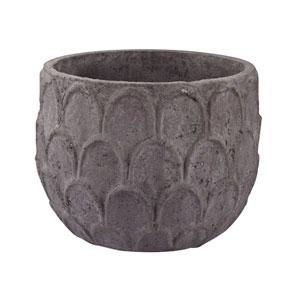 Aged Powdered Dark Grey Stone Vase