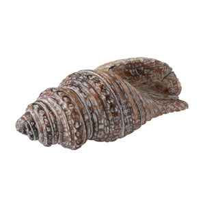 Decorative Wooden Nine-Inch Conch Shell