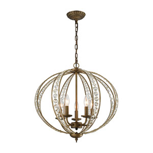 Elizabethan Dark Bronze 21-Inch Five-Light Chandelier