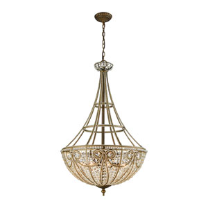 Elizabethan Dark Bronze 22-Inch Eight-Light Pendant