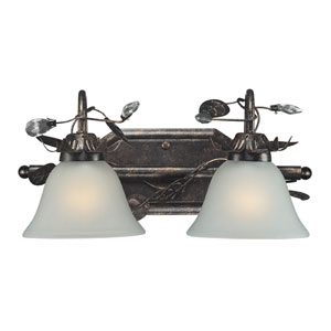 Maribella Two Light Bath Fixture In Deep Rust