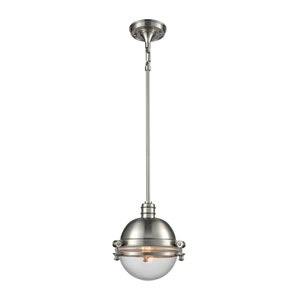 Riley Satin Nickel 10-Inch One-Light Pendant