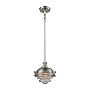 Riley Satin Nickel 9-Inch One-Light Pendant