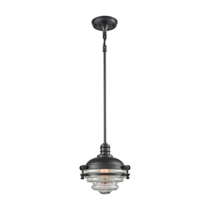 Riley Oil Rubbed Bronze 9-Inch One-Light Pendant