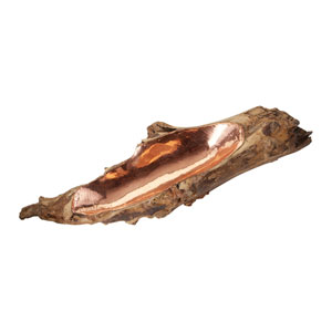 Teak Natural with Copper Insert Nine-Inch Bowl