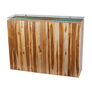 Teak Natural Bundled Root Console
