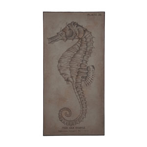 Handpainted Wood Sea Horse Wall Art