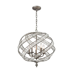 Renaissance Weathered Zinc 21-Inch Five-Light Chandelier