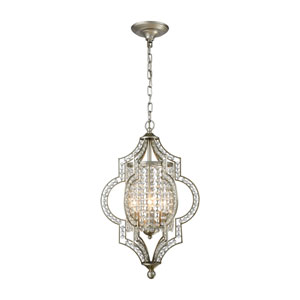Gabrielle Aged Silver 14-Inch Three-Light Pendant
