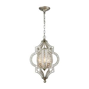 Gabrielle Aged Silver 14-Inch Three-Light Pendant