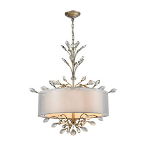 Asbury Aged Silver 26-Inch Four-Light Pendant