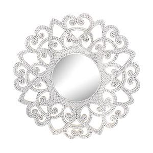 Mosaic Glass 31-Inch Round Mirror