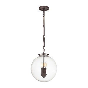 Gramercy Oil Rubbed Bronze 14-Inch Three-Light Pendant