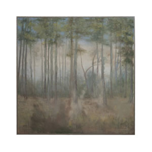 Handpainted Wood Forest Wall Art